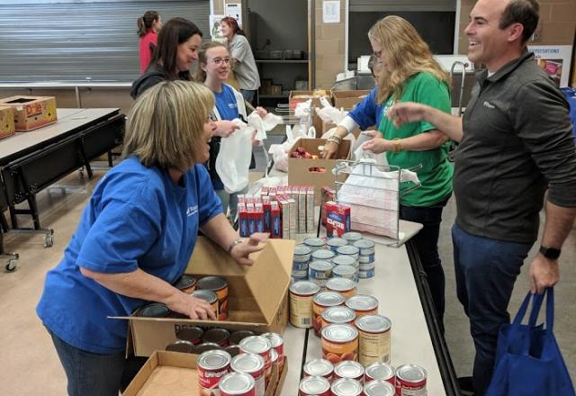 Volunteers at the Utah Food Bank