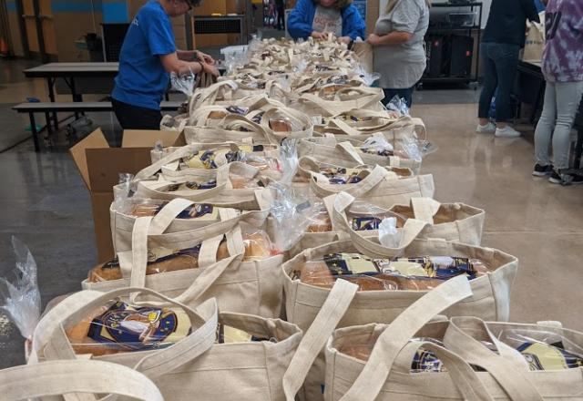 Bags of Food at Utah Food Bank