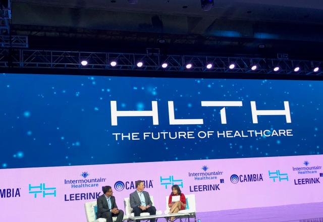 Mark Ganz Rob Coppedge HLTH Cambia Innovation Disruptive Health Care