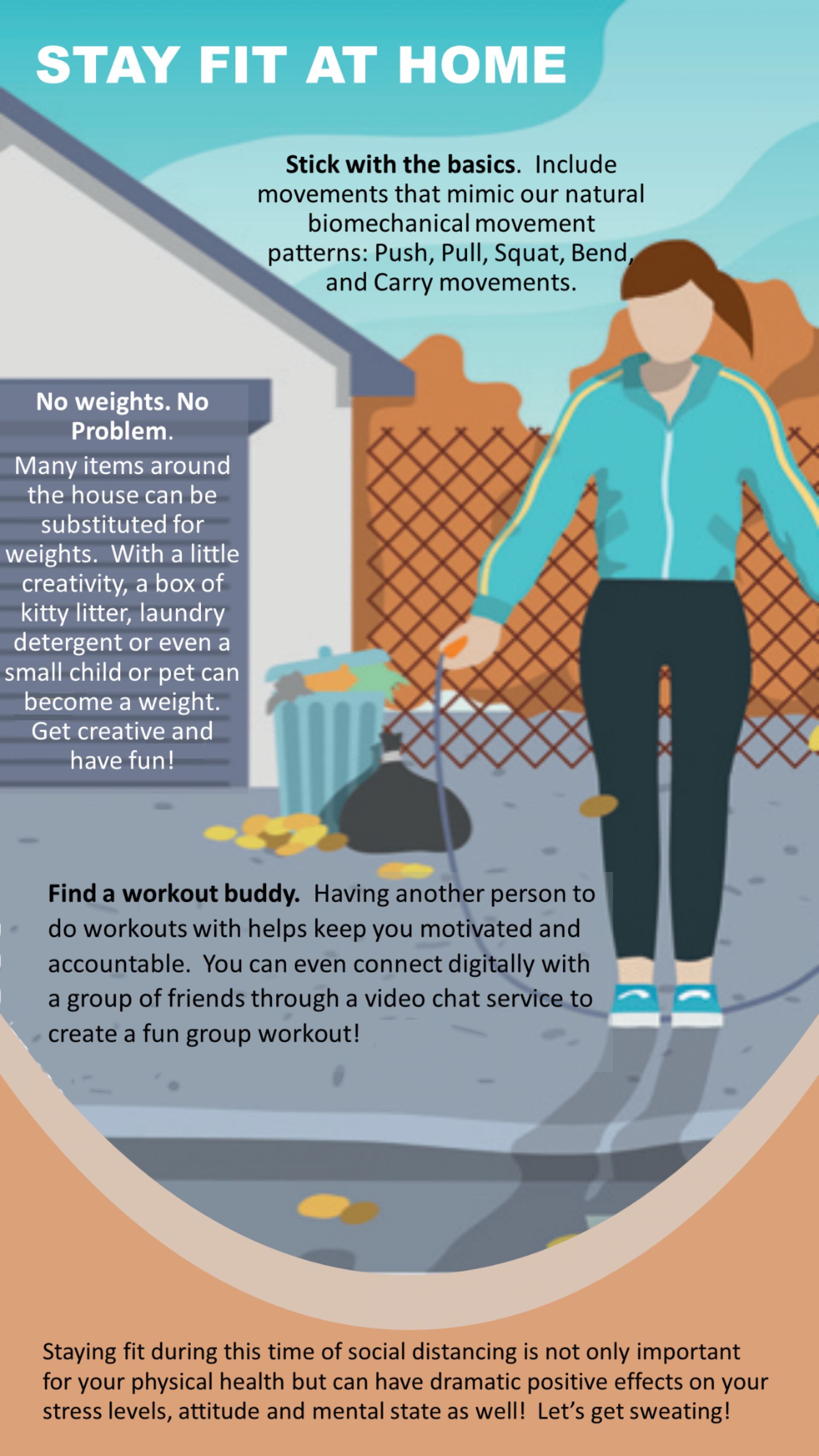 2 of 7 Lifelong Blog- FIT AT HOME infographic