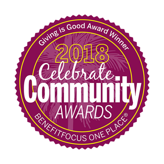 2018 Celebrate Community Awards Giving is Good Award Winner