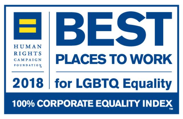 2018 Best Places To Work for LGBTQ Equality Human Rights Campaign Foundation