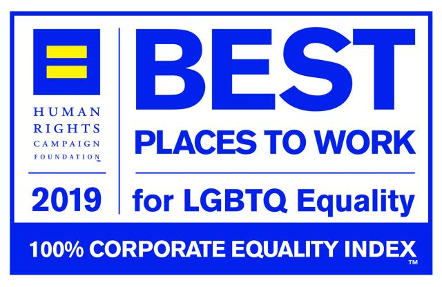 2019 Best Places To Work for LGBTQ Equality Human Rights Campaign Foundation
