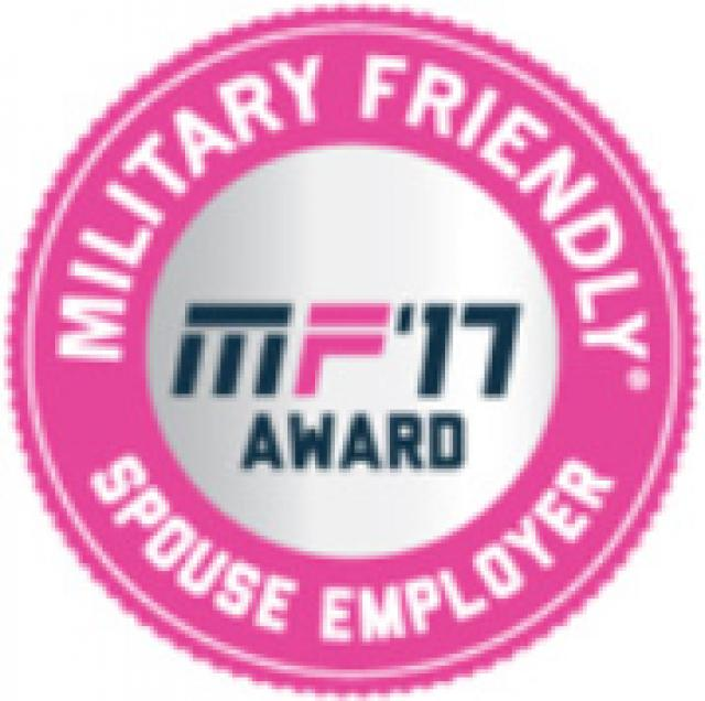 MF'17 Award Military Friendly Spouse Employer