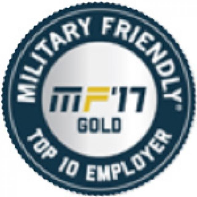 MF'17 Gold Military Friendly Top 10 Employer