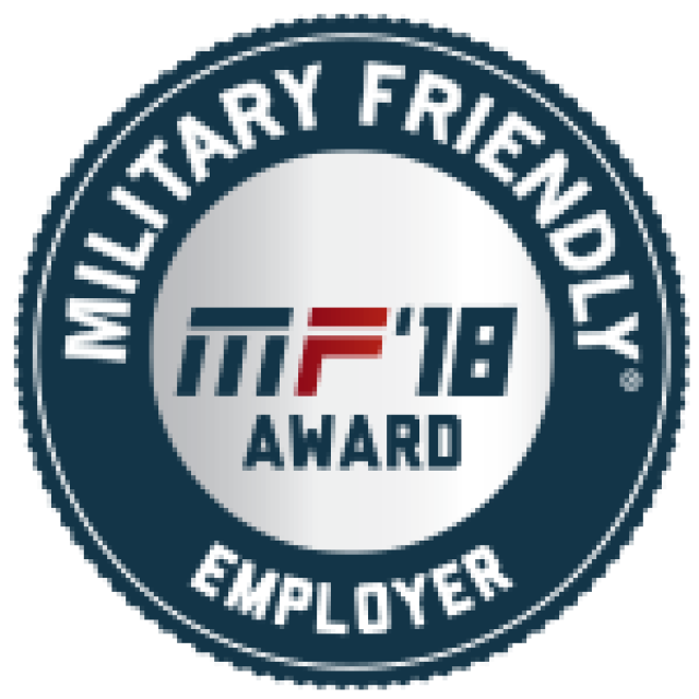 MF'18 Award Military Friendly Employer