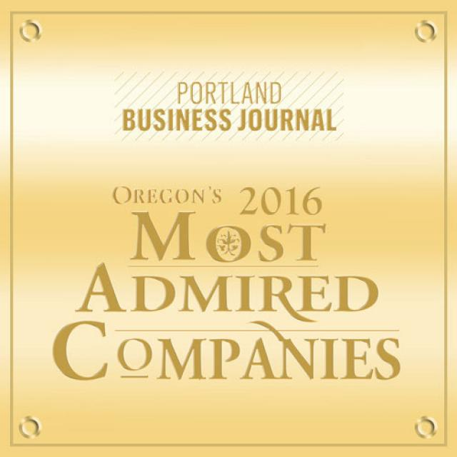 2016 Portland Business Journal Oregon's Most Admired Companies
