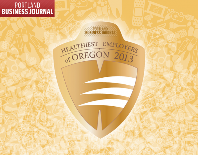 Portland Business Journal Healthiest Employers of Oregon 2013
